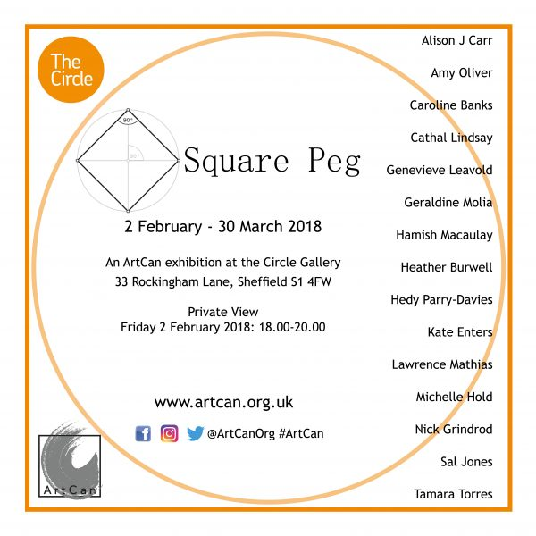 'Square Peg' – An ArtCan exhibition launch at The Circle Gallery